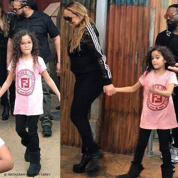 Mariah Carey Monroe Cannon Fendi Pink Logo Shirt