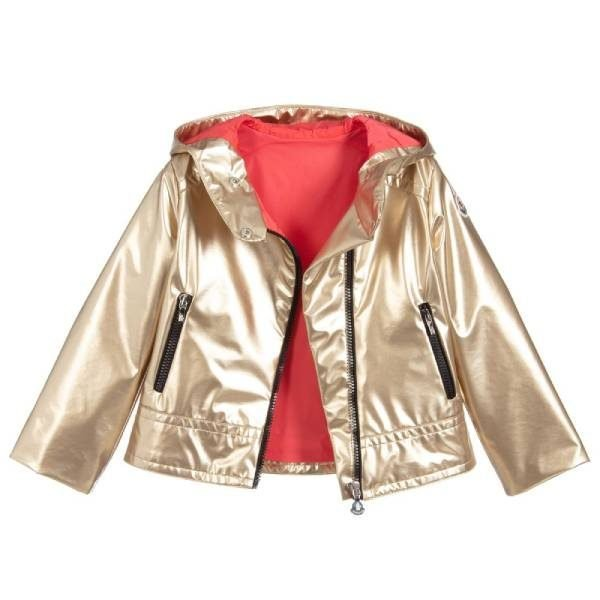 Moncler Enfant Girls Metallic Gold Jacket