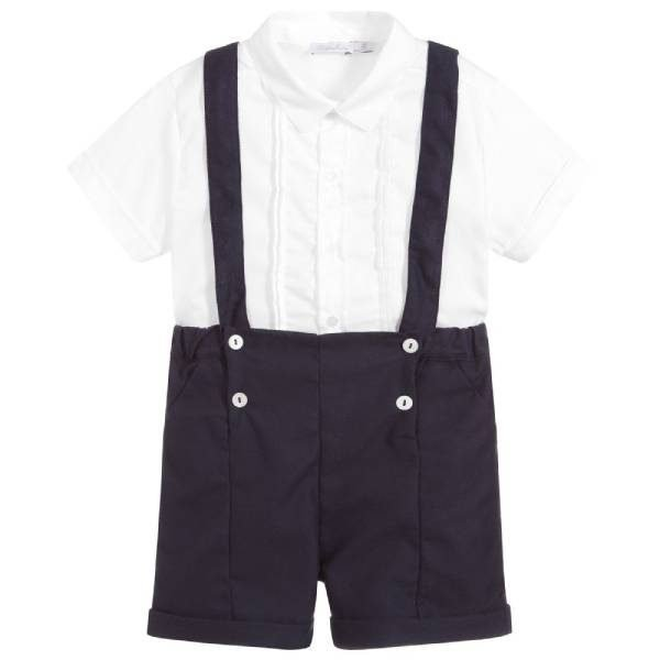 Patachou Boys Blue 2 Piece Shorts Set