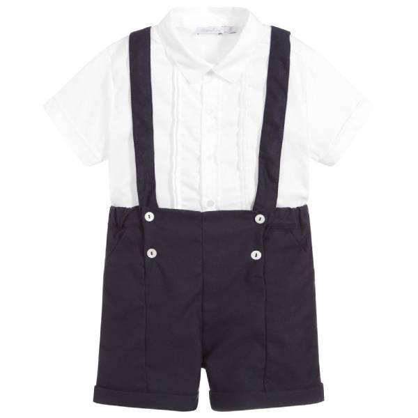 Patachou Boys Blue 2 Piece Shorts Set