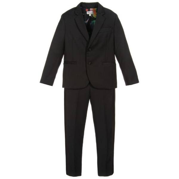 Paul Smith Junior Boys Black Tuxedo Suit