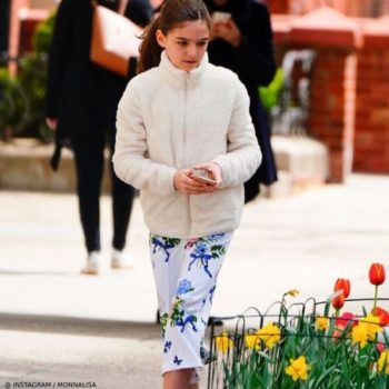 Suri Cruise Monnalisa Chic White Floral Pants