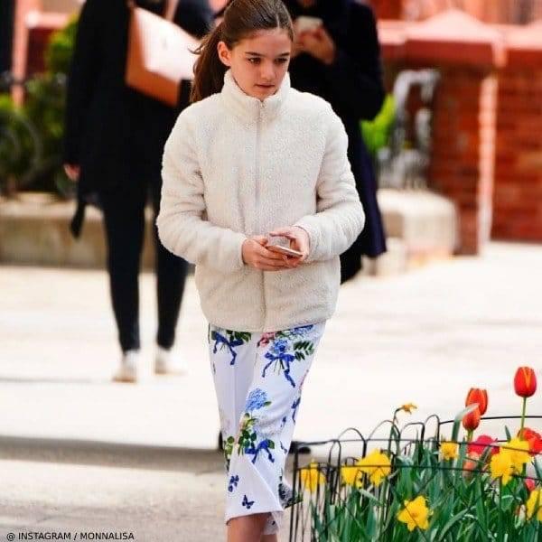 Suri Cruise - Monnalisa Chic White Floral Pants