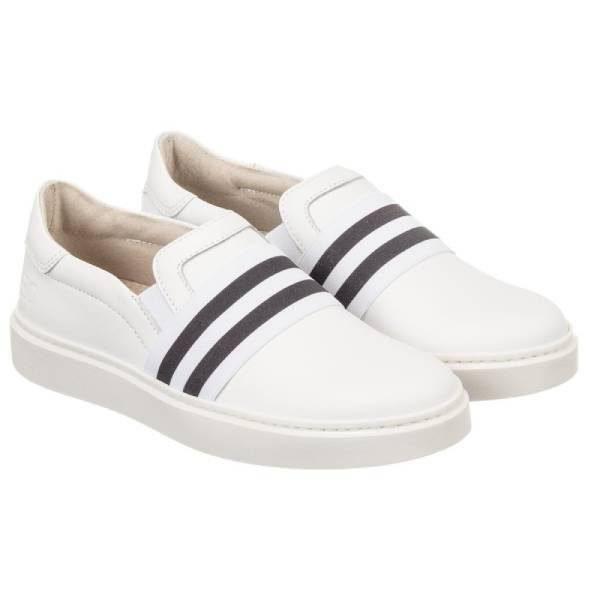 Trevirgolazero 3,0 White Leather Slip-On Trainers