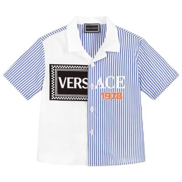 Young Versace Boys Cotton Logo Shirt