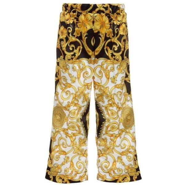 Young Versace Girls Gold BAROQUE Trousers