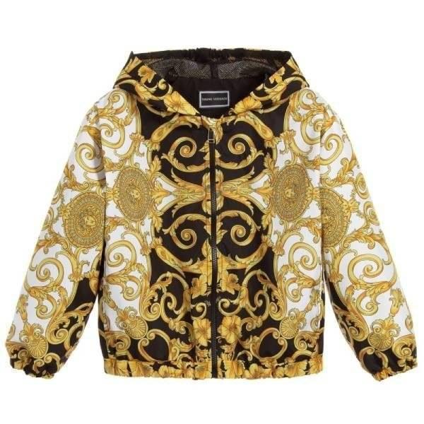 Young Versace Mini Me Baroque Print Jacket