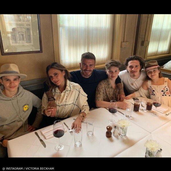 Beckham Family Celebrates Davids 44 Birthday Harper White Bonpoint Dress