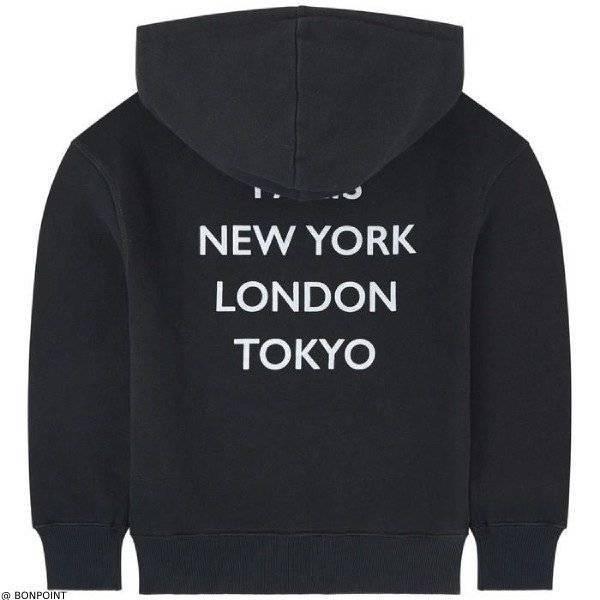 Bonpoint Black Logo Paris New Yor London Tokyo Sweatshirt