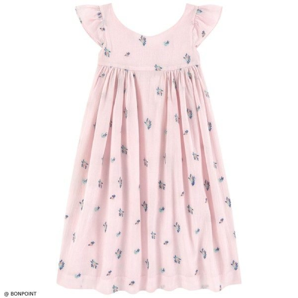 Bonpoint Galante Pink Embroidered Dress