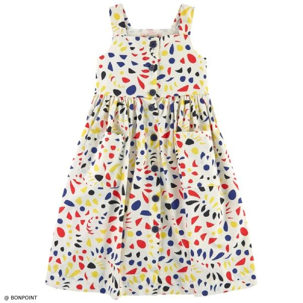 Bonpoint Girls Laly Multicolor Dress