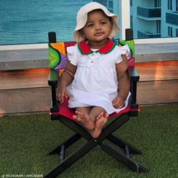 CardiB Offset Daughter Kulture Cephus Gucci White Baby Girl Pique Dress