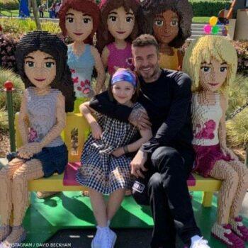 David and Harper Beckham Lego Land San Diego Bonpoint Goldie Black Gingham Check Dress