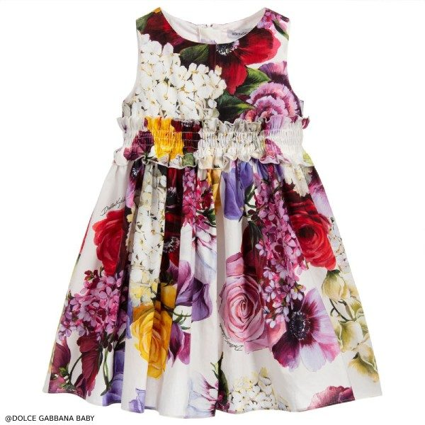 Dolce & Gabbana Baby Girls Cotton Dress Set