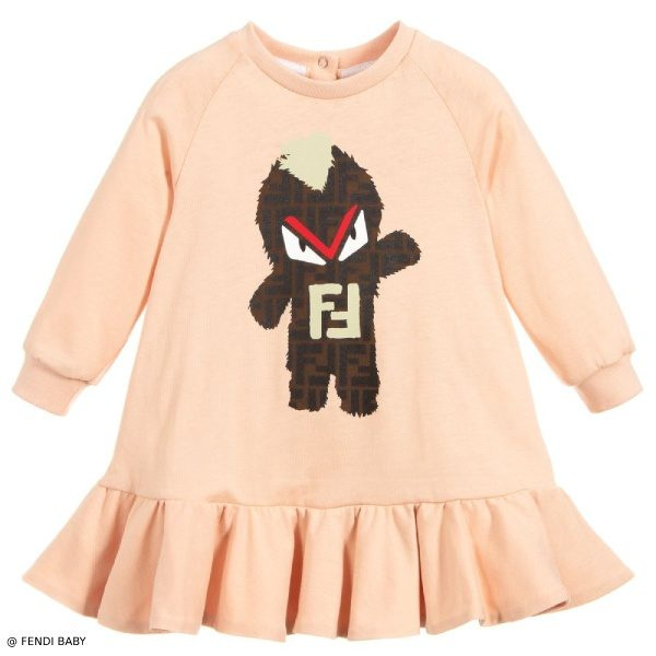 Fendi Baby Girls Pink Fendirumi Dress