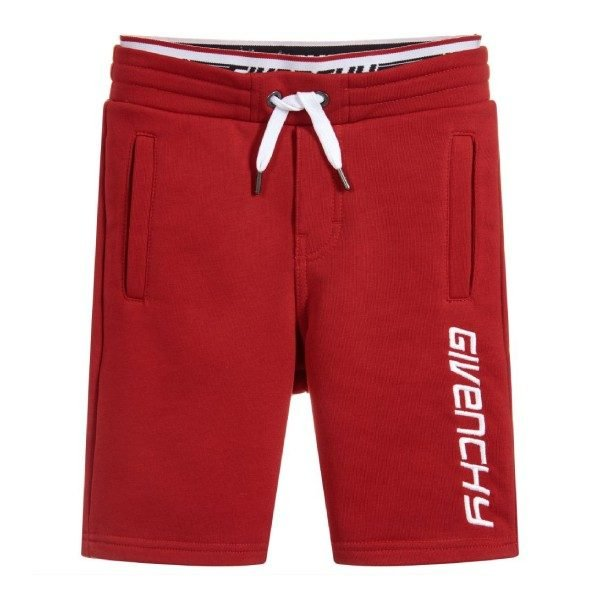 Givenchy Kids Boys Red Cotton Jersey Shorts