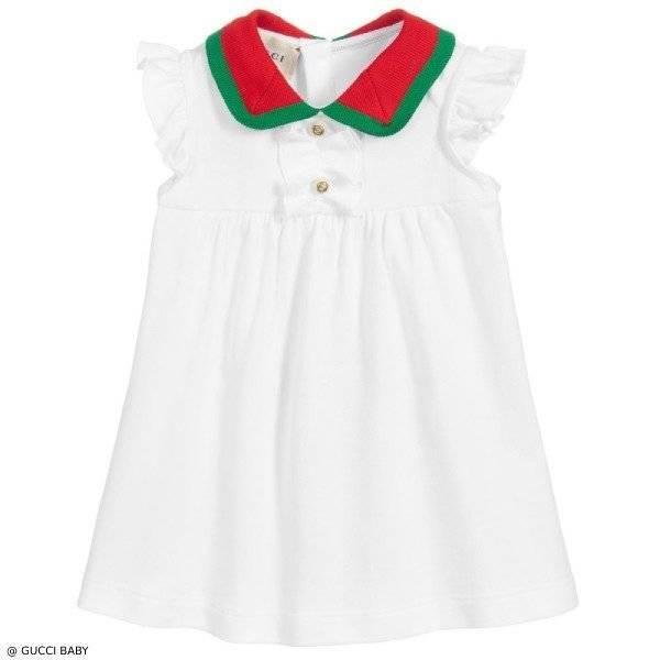Gucci Baby Girls Mini Me Cotton Pique Dress