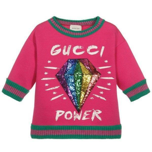 Gucci Ghost Diamond Pink Sweatshirt
