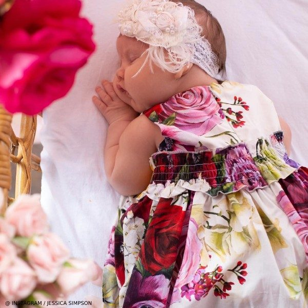 Jessica Simpson Baby Girl Birdie Dolce Gabbana Flower Mix Dress