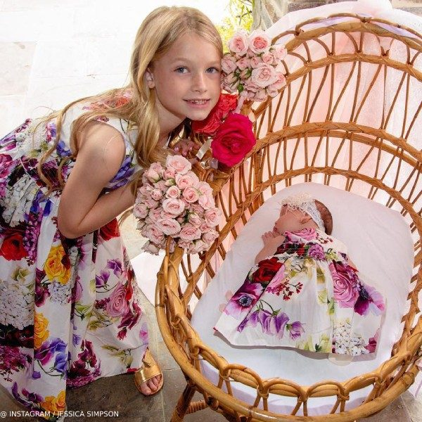 Jessica Simpson Daughter Maxwell Birdie Dolce Gabbana Mini Me Flowers Mix Dress