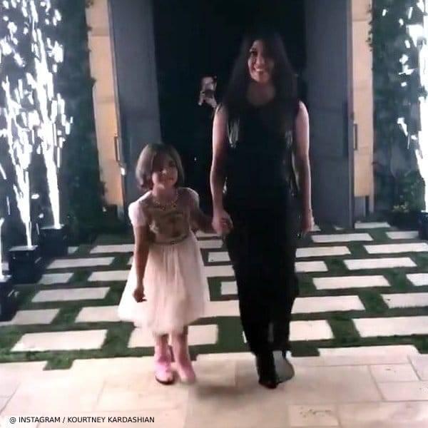 Kourney Kardashian 40 Birthday Party Penelope Disick Gucci Apricot Tulle Cat Dress