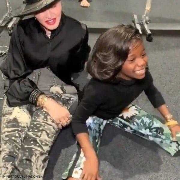 Madonna's Daughter Estere Ciccone - Monnalisa Green Floral Culotte Pants