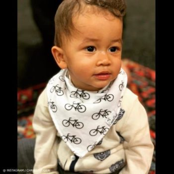 Miles Stephens Son of Chrissy Teigen John Legend Gucci Baby Boy Tiger Cardigan Sweater