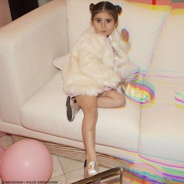 Penelope Disick - GUCCI Girl Gold Metallic Mini Me Princetown Slipper Shoe