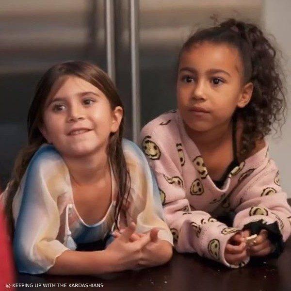 Penelope Disick wears CHLOE Girls Rainbow Silk Dress on Keeping up with the Kardashians