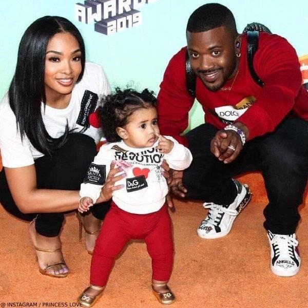 Ray J & Daughter Melody - Dolce & Gabbana Mini Me Fashion Devotion Sweatshirt