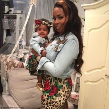 REMY MA & REMINISCE MACKENZIE – DOLCE GABBANA MINI ME Baby Leopard & Rose Dress
