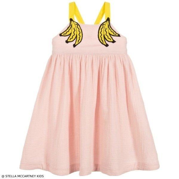 Stella McCartney Kids Pink Banana Print Dress