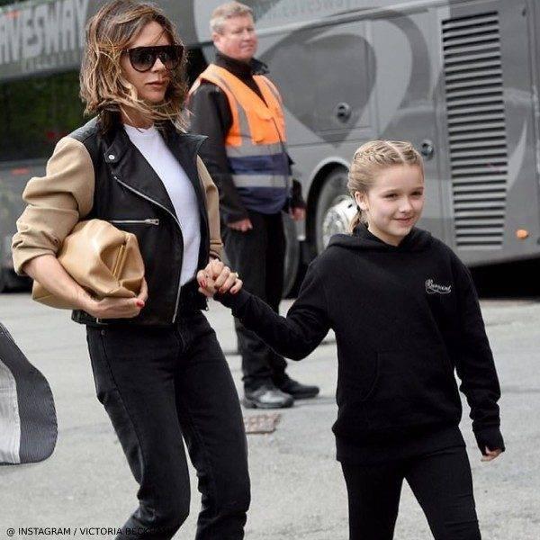 Victoria Harper Beckham Manchester United Soccer Game May 26 Bonpoint Black Sweatshirt
