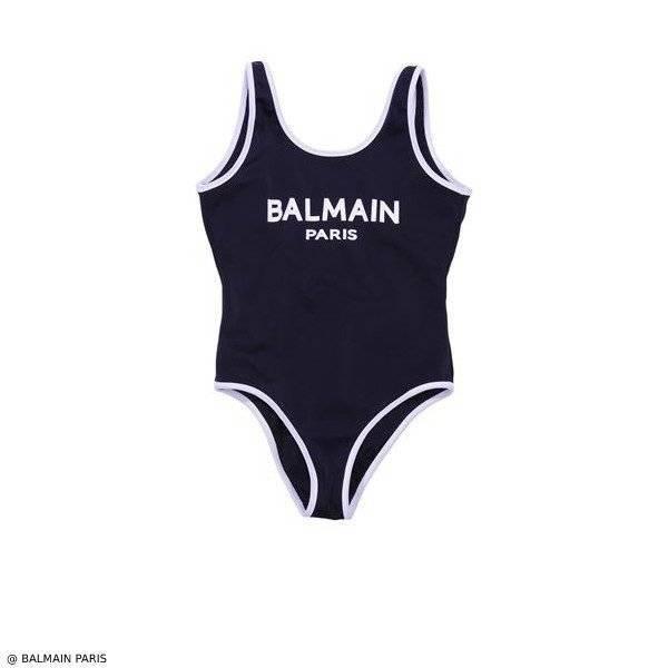 Balmain Girls Black Mini Me Swimsuit