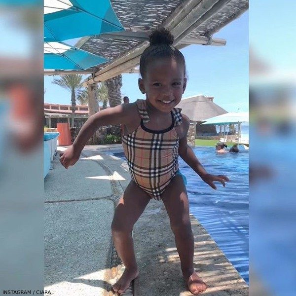 Ciara's Daughter Sienna - Burberry Baby Girls Check Swimsuit
