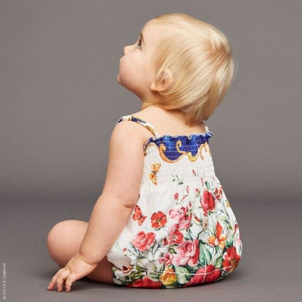 DOLCE & GABBANA Baby Girls Mini Me Vaso Fiori Shortie