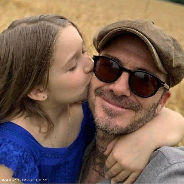 David and Harper Beckham 8th Birthday Bonpoint Blue Liloa Fig Dress