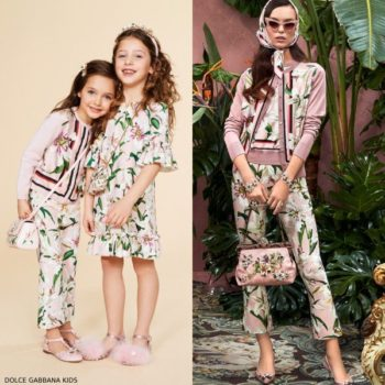 Dolce Gabbana Girls Mini Me Lilium Sweater Lily Print Pants