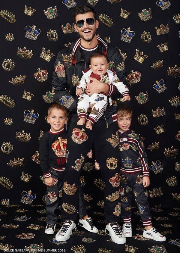 Dolce Gabbana Summer 2019 Boys Mini Me King Look