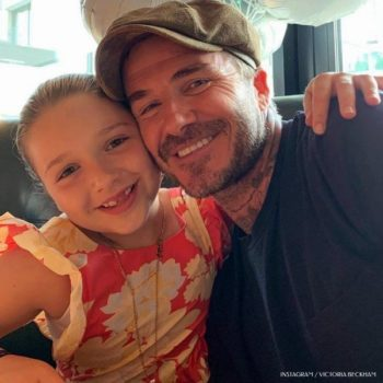 Harper and David Beckham Celebrate Harpers 8th Bday Bonpoint Red Canelle Flower Dress