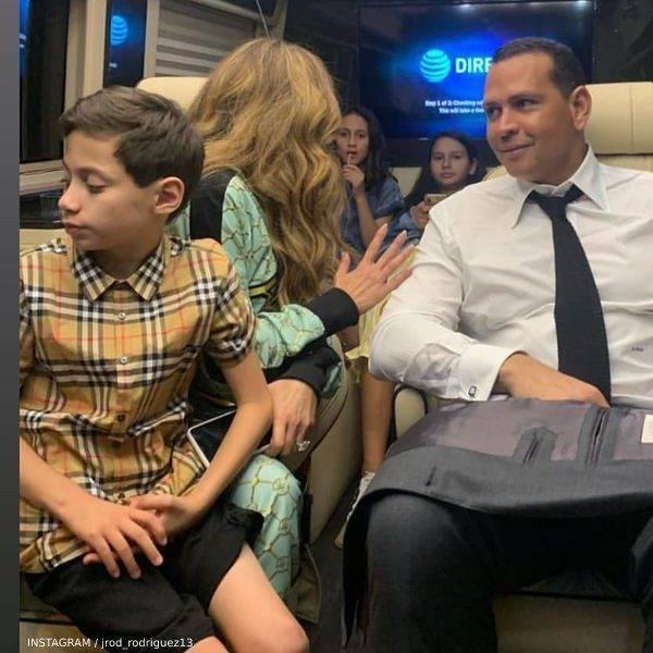 Jennifer Lopez's Son Max Muniz - Burberry Beige Vintage Check Short Sleeve Button Down Shirt