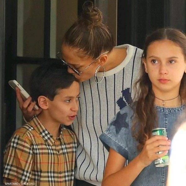 Jennifer Lopez's Son Max Muniz - Burberry Boys Beige Vintage Check Short Sleeve Button Down Shirt