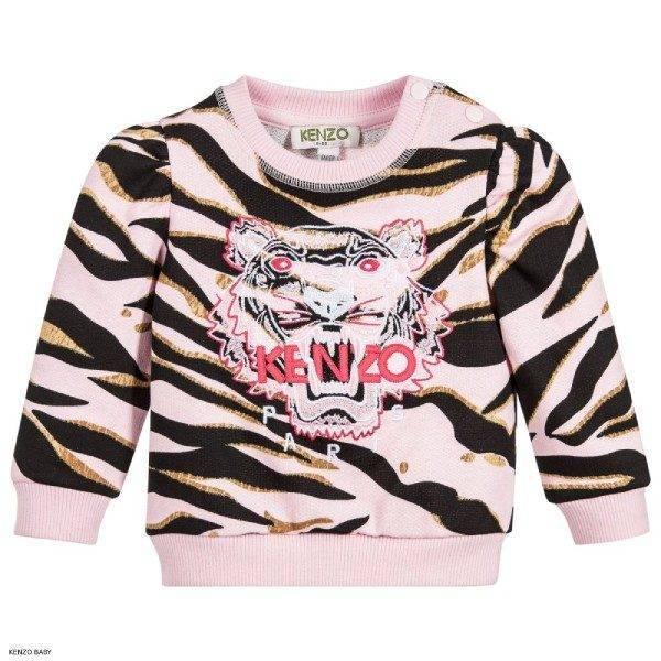 Kenzo Kids Baby Girls Pink Tiger Sweatshirt