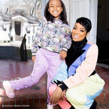 Monica Brown Daughter Laiyah Molo Girls Purple Floral Print Sweatshirt