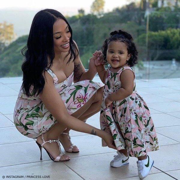 Princess Love Melody Norwood BET 2019 Awards Dolce Gabbana Mini Me Lilium Lily Floral Print Dress