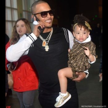 Rapper T.I. Daughter Heiress Diana Harris - Fendi Baby Brown FF Logo Dress