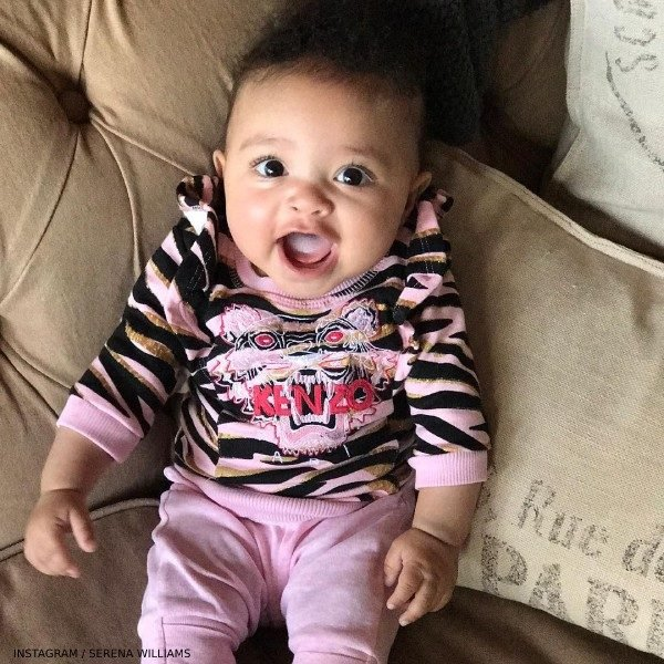 Serena Williams Daughter ALEXIS OLYMPIA OHANIAN Kenzo Baby Girl Tiger Print Sweatshirt