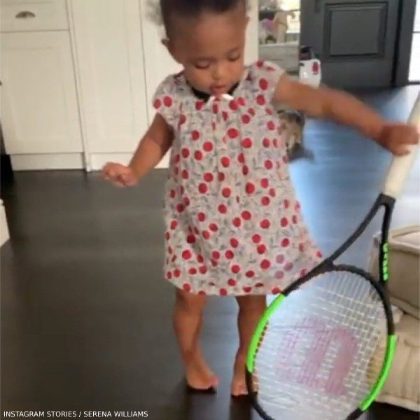 Serena Williams Daughter Olympia Bonpoint Lucile Red Print Dress