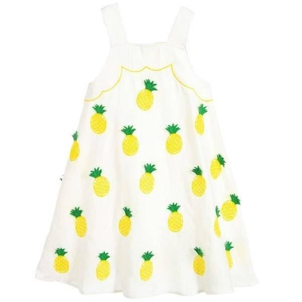Stella McCartney Kids White Pineapple Dress