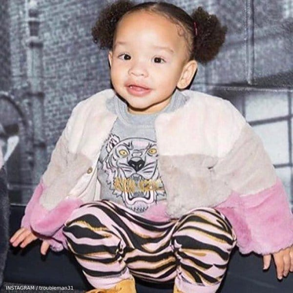 TI & Tiny's Daughter Heiress Harris - Kenzo Baby Girl Mini Me Tiger Sweater